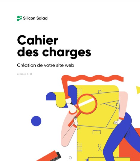 illustration cahier des charges site web Silicon Salad